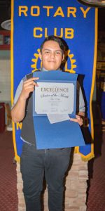 Rotary Club Student Of The Month October - Kyle Edsitty | Gallup High