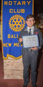 Rotary Club Student Of The Month October - Oscar Kyle White | Crownpoint High