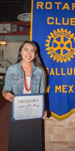 Rotary Club Student Of The Month October - Raquel Dale | Window Rock High