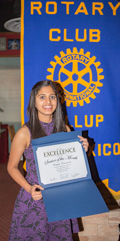 Rotary Club Student Of The Month October - Samyuta Komaravolu | Miyamura