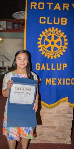Rotary Club Student Of The Month October - Ma Jochelline V
