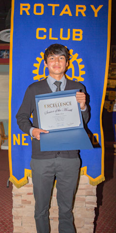 Rotary Club Student Of The Month October - Malik Scott St